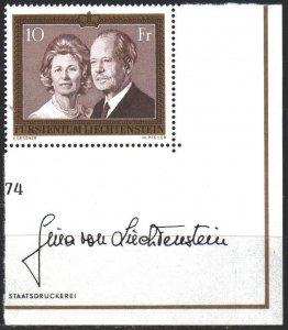 Liechtenstein. 1974. 614. Prince of Liechtenstein. MNH.