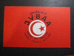 10521 Amateur Radio QSL Card FRENCH DX PEDITION NABEUL TUNISIA