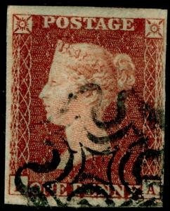 SG10, 1d deep red-brown PLATE 17, FINE USED. BLACK MX. Cat £80.