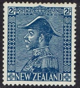 NEW ZEALAND 1926 KGV ADMIRAL 2/- WMK UPRIGHT