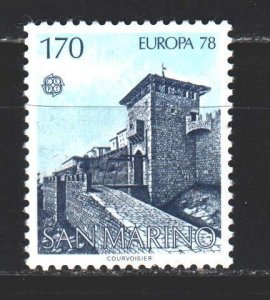 San Marino. 1978. 1156 from the series. Castle, Europe Sept. MNH.