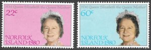 [9258]   Norfolk Island # 271 - 72 Mint Never Hinged