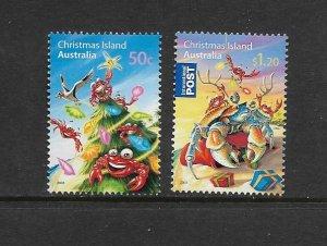 CHRISTMAS ISLAND #475-6 CHRISTMAS 2008  MNH