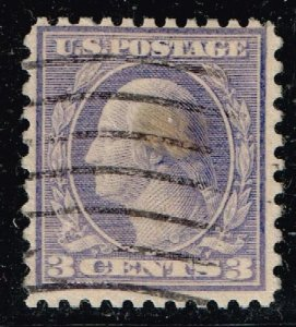 US STAMP #541 – 1919 3c Washington, violet, type II USED STAMP STAIN #2
