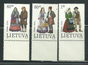 1993 Lithuania Unused Never Hinged Scott Catalog Numbers 465-467