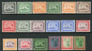 SELANGOR-1935-41  A mounted mint set to $5 Sg 68-85