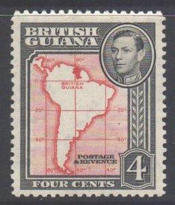 British Guiana Scott 232a - SG310, 1938 George VI 4c Perf 12.1/2 MH*
