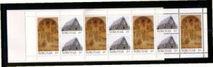 Faore Islands Sc 311a 1996 Christianschurch stamp booklet mint NH
