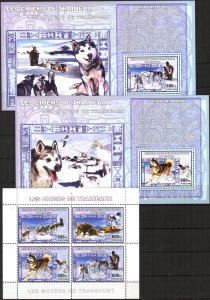 Congo 2006 Transport Sled Dogs sheet + 4 S/S MNH
