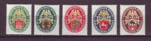 J25159 JLstamps 1928 germany set mh #b23-7 arms dated 1928