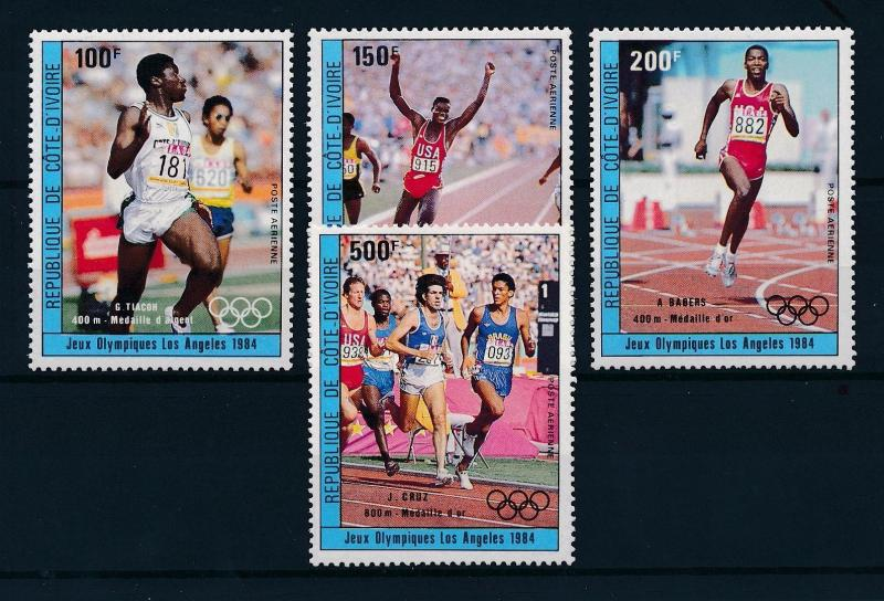 [55357] Ivory Coast 1984 Olympic games Los Angeles Athletics MNH