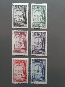 Libya Fezzan #2NJ1-2NJ6 F-VF MH. Scott $ 17.50