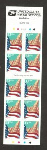 3278j Flag & City (Black Date) Booklet Of 10 Mint/nh FREE SHIPPING