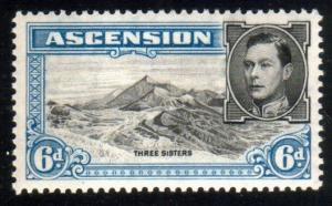 ASCENSION 1938-53 GVI 6d perf 13½ fine mint hinged SG43....................51627