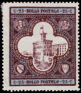 San Marino Scott 29 (1894) Mint H F-VF, CV $7.50