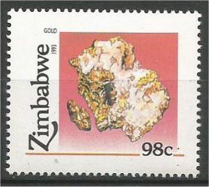ZIMBABWE, 1993, MNH 98c, Minerals Scott 680