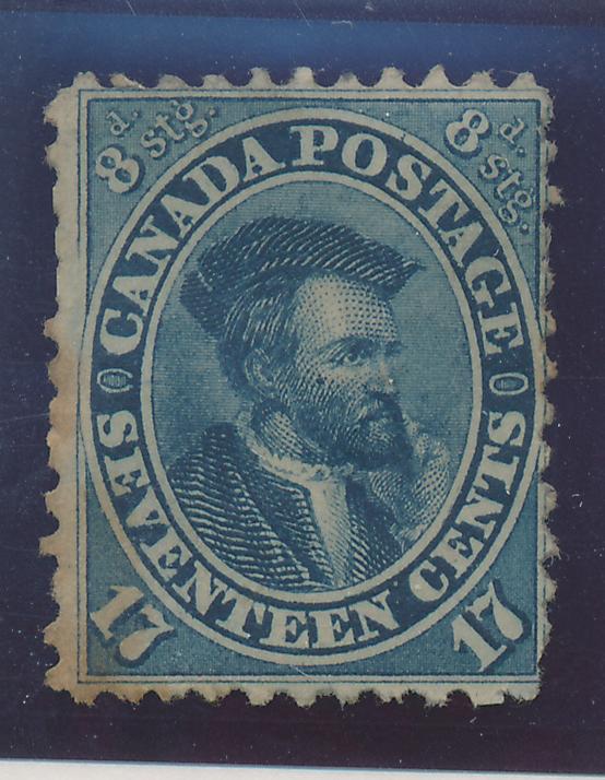 Canada Stamp Scott #19, Unused, Mint No Gum - Free U.S. Shipping, Free Worldw...