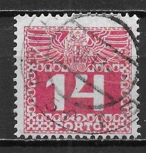 Austria J39 1910-3 14h Postage Due Used (z3)