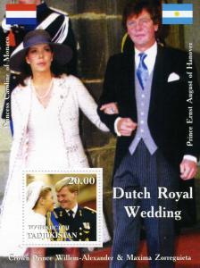 Tajikistan 2002 DUTCH Royal Wedding s/s Perforated Mint (NH)