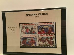 Marshall Islands 1985 International Youth Year mint never hinged stamps  R22268