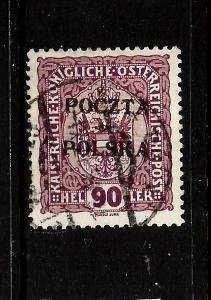 POLAND  1919  90h   RED/ VIOLET  FU  Sc 50