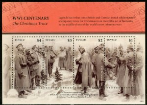 TUVALU 2019 WORLD WAR I CENTENARY  CHRISTMAS TRUCE  S/S MINT NEVER  HINGED
