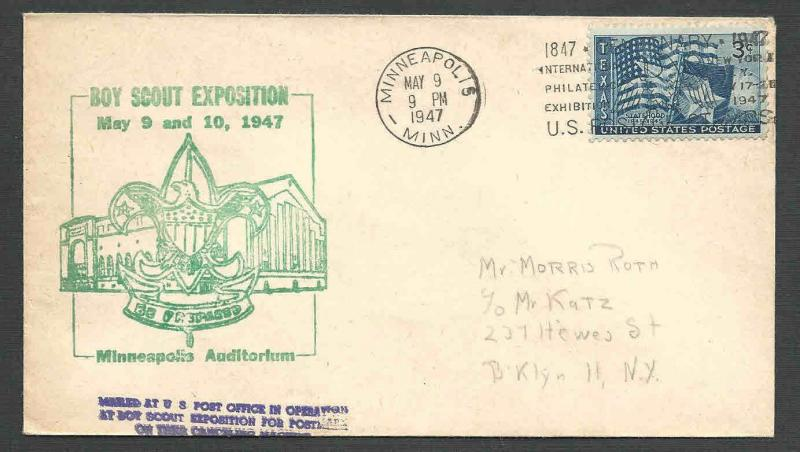 DATED 1947 COVER MINNEAPOLIS MN BOY SCOUTS EXPOSITION