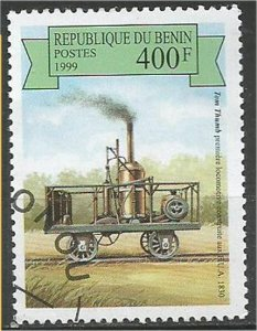 BENIN 1999, used 400fr, Steam Scott 1164