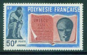 French Polynesia Scott C62 MNH** Rodin Thinker 1970