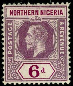 NORTHERN NIGERIA SG46, 6d dull & brt purple, LH MINT.