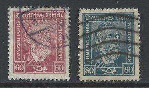Germany 1924 Heinrich von Stephan - Mi362-363 used