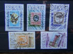 Kenya 1990 Centenary of Postage stamps in Kenya set Used