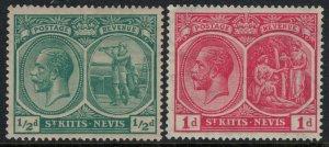 St, Kitts-Nevis #37-8*  CV $3.75