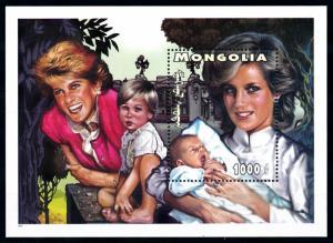 [91840] Mongolia 1997 Royalty Princess Diana Souvenir Sheet MNH