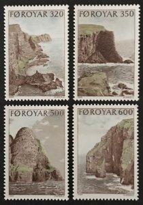 Faroe Islands 1989 #197-200, MNH, CV $6.15