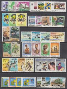 Jamaica Sc 547//611 MLH. 1982-1985 issues, 12 complete sets, VF