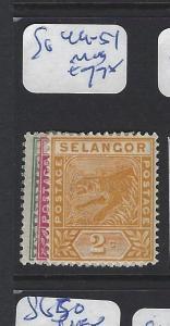 MALAYA  SELANGOR   (PP2507B) 1C-2C    TIGER   SG  49-51   MOG
