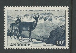 Andorra-French # C1  Chamois (Deer)   (1)   Unused VLH