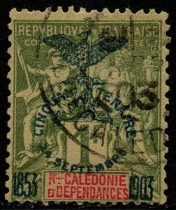 $New Caledonia Sc#80 used, F-VF, high value, Cv. $115