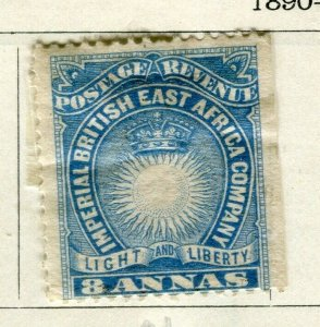 BRITISH KUT; ; 1890 East Africa Company fine Mint hinged 8a. Imperf Margin