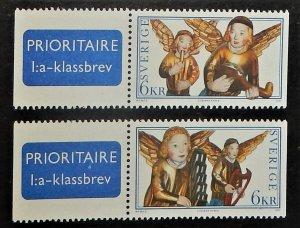 Sweden 2259-60. 1997 Altarpiece Angels, NH