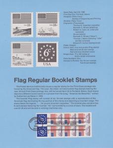 US SP534 Flag booklet pane Souvenir Page #1893a