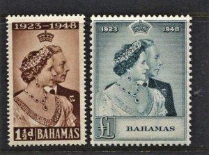 STAMP STATION PERTH  Bahamas #148-149 Silver Wedding Set -MNH CV$48.00