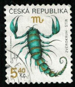 1999, Signs of the Zodiac: Scorpio, 5.40 Kc, Czech Republic (T-9618)