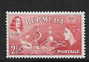 BERMUDA 147 MINT HING 1953-1958 ISSUE