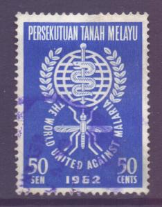 Malaya Federation Scott 104 - SG25, 1962 Anti - Malaria 50c used