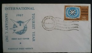 Pakistan 1967 International Tourist Year First Day Cover FDC