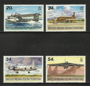 British Indian Ocean Territory 1992 Scott# 124-127 MNH