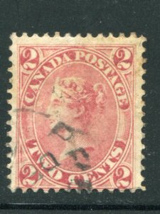 Canada #20a used  nice cancel lovely stamp     - Lakeshore Philatelics