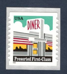 3208a Diner US Single Mint/nh FREE SHIPPING